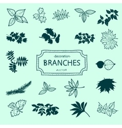 Branches of a tree vector