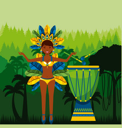 Brazilian dancer icon vector