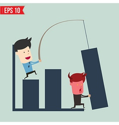 Business man show news board - - eps10 vector