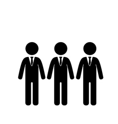 Businessmen teamwork pictogram vector