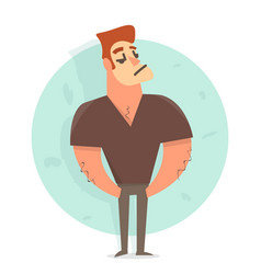 cartoon character man funny vector image
