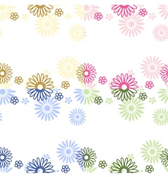 Color flower background vector image vector image