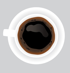 Cup of black coffee on grey background vector