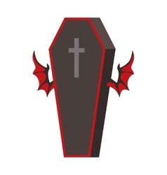 Dracula coffin vector