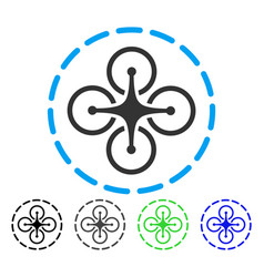 Drone flight flat icon vector