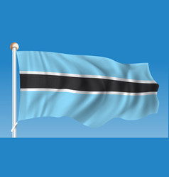 Flag of botswana vector