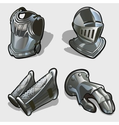 Four elements of knights armor vector