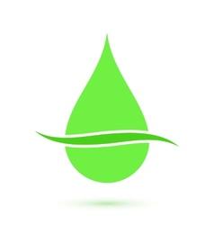 Green drop symbol conceptual icon vector image vector image