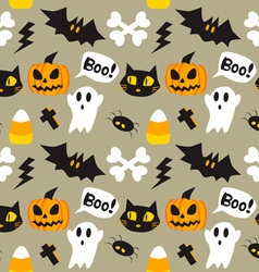 Halloween cartoon seamless background vector