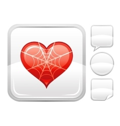 Happy valentines day romance love heart spider vector