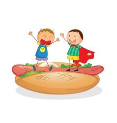 Hotdog kids vector image