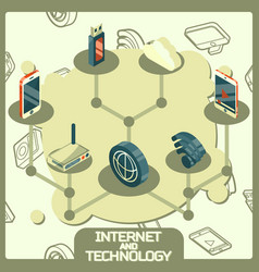 Internet and technology concept icons vector