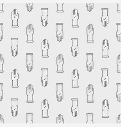 latex gloves icon seamless pattern vector image vector image