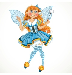 Little tooth fairy with wings vector image vector image