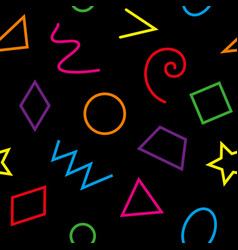 Multicolor basic geometrical shapes seamless vector