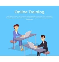 Online Training Banner Design Concept vector image vector image