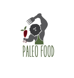 paleo food caveman design template vector image