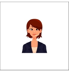 Portrait of young smiling cheerful female call vector