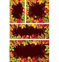 set of seasonal banners of autumnal leaves vector image vector image
