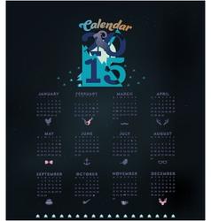 Simple 2015 Calendar vector image