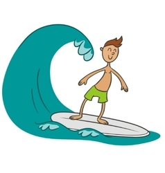 surfer doodle vector image vector image