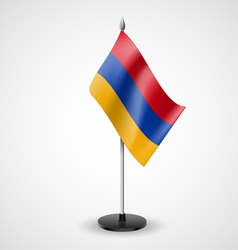 Table flag of armenia vector