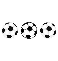 Three footballs vector