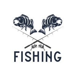 Vintage fishing design template vector