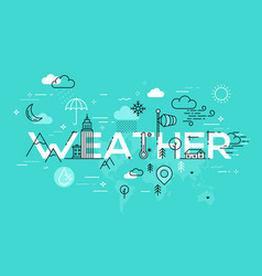 Weather concept with icons and elements vector