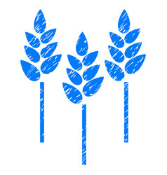 wheat ears icon grunge watermark vector image
