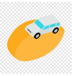 desert car isometric icon vector image
