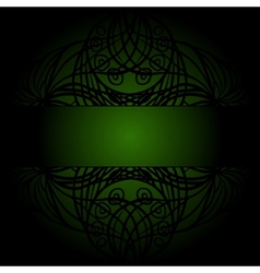 Black lace on dark green vector image