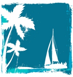 Tropical design vector