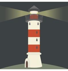 Single lighthouse vector