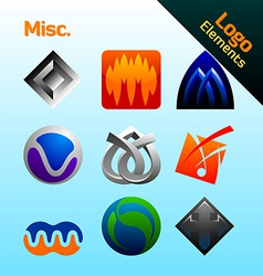 misc logo elements vector image