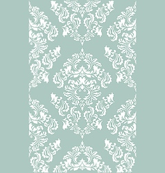 damask floral wallpaper vector image