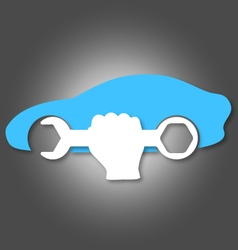 Car repair symbol vector