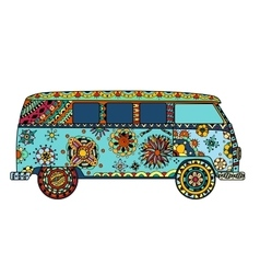 Van in zentangle style vector