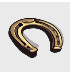 Bronze horseshoe horses symbol of good luck vector