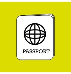 Passport icon design vector