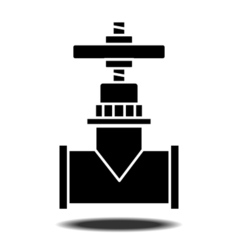 Sanitaryware tap icon vector image