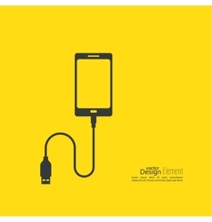 Abstract background with charge mobile phones vector image