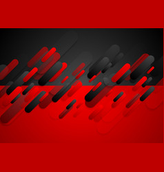 abstract red black tech corporate background vector image vector image