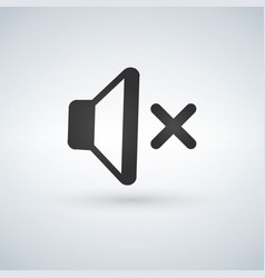 audio speaker volume no volume silent mute icon vector image