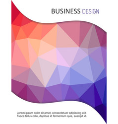 Brochure cover design vector image vector image
