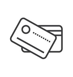 cards payment line icon sign vector image