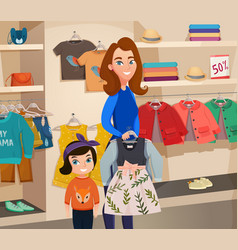 childrens clothing store vector image vector image