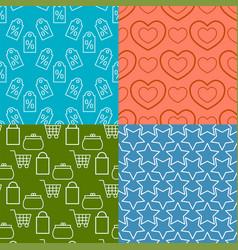 Colorful website web e-shop buttons design vector