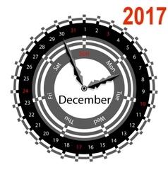 Creative idea of design a clock with circular vector