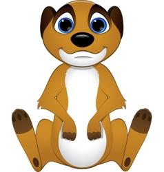 Cute baby meerkats vector